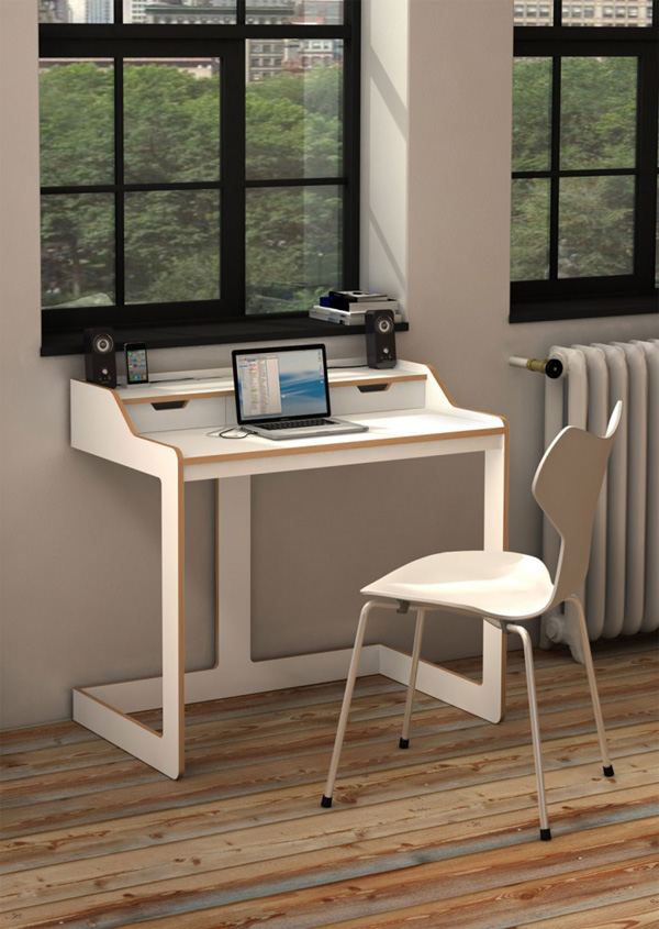 adorable-nice-coolest-office-modern-white-desk-for-
