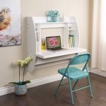 adorable-nice-creative-modern-cool-chic-foldable-chair-and-white-floating-desk-ikea-with-shelf-and-has-nice-wooden-floor-design