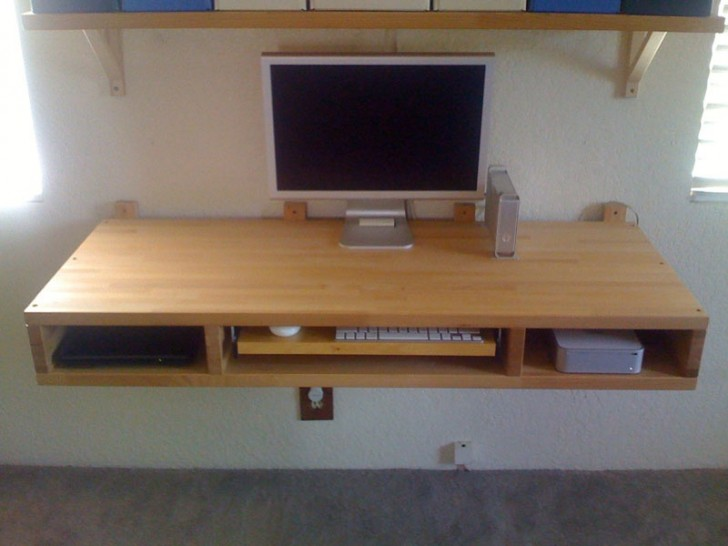 The best choice of ikea floating desk for your home wall for Wall mounted desk ikea