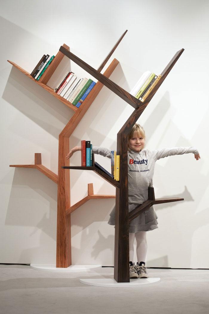 Adorable Nice Wonderful Cool Fantastic Tree Shaped Bookshelf
