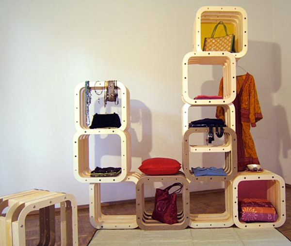 Amazing Nice Simple Large Adorable Modular Coat Rack