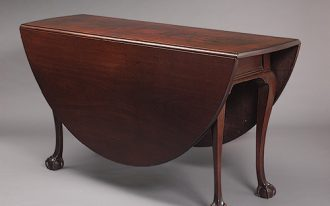 attractive-classic-old-traditional-drop-leaf-dining-table-with-dark-brown-coloring-concept-made-of-wood-with-four-legs