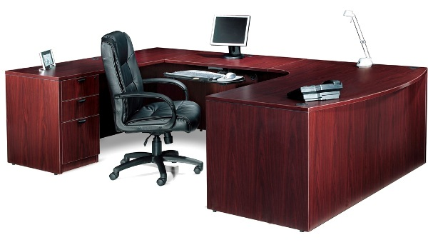 attractive nice shaped desk wooden design concept modern chair wheels l for sale toronto kidney value executive desks