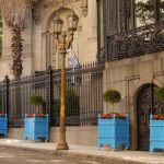 attractive-nice-adorable-classic-nice-wood-planter-box-with-traditional-outdoor-pots-and-planters-colored-in-blue-with-small-design