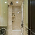 attractive-small-adorable-fantastic-built-in-shower-with-ncie-portable-fixture-design-with-small-embedded-rack-with-glass-door-design-728x1079