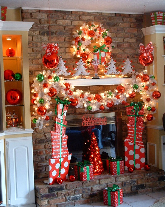 Awesome Nice Coolest Adorable Christmas Decoration For Mantel