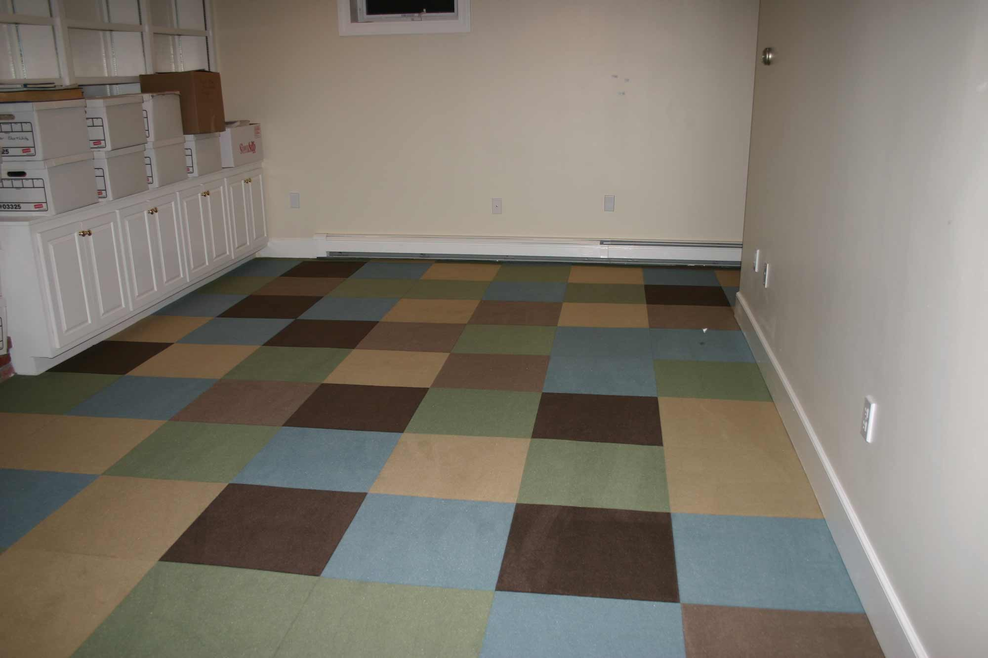 Bring basement floor covering more vivid homesfeed for Basement floor covering ideas