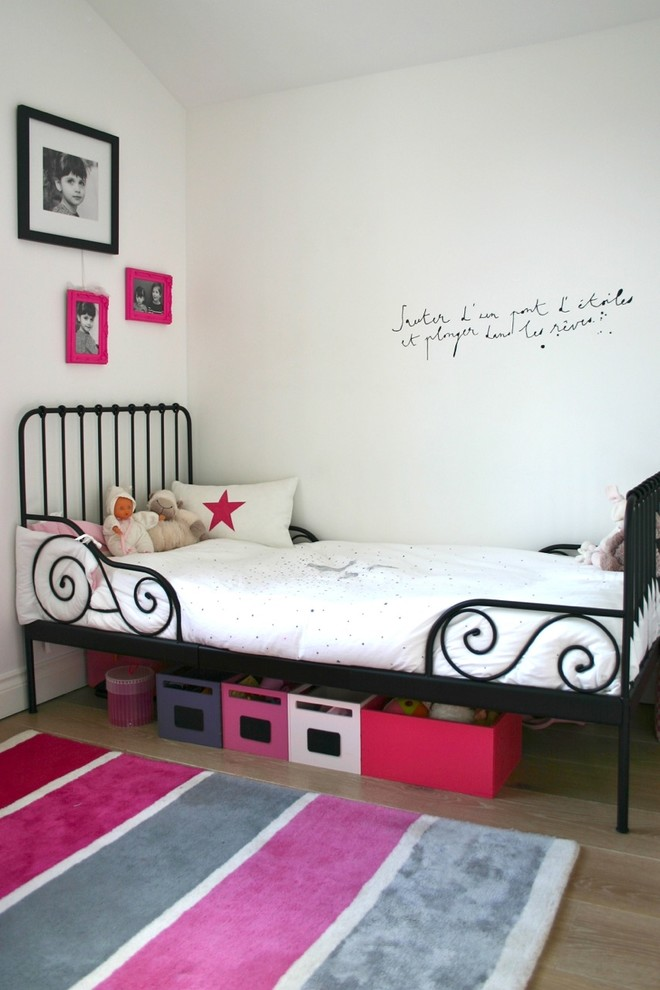 Beautiful Fury Carpet With Grey And Pink Color Strips Pattern A Classic  Black Metal Bed Furniture.