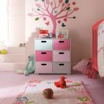 beautiful-nice-fresh-girly-Rugs-Design-For-Kids-especially-for-girl-Room-Bear-Theme-With-Wooden-Crip-And-Doll-with-pink-coloring-concept-728x971