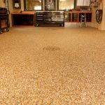 brown solid epoxy paint for concrete floor in basement