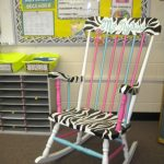 colorful wire chair with beautiful seating feature for reading