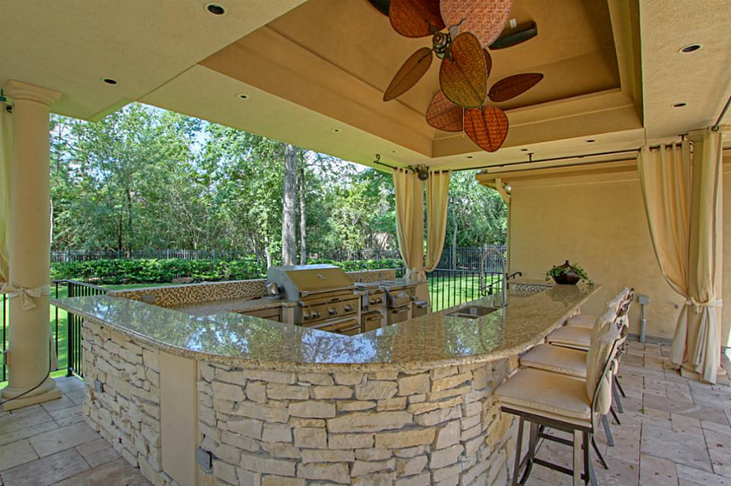 Creative And Unique Ceiling Fans Brown Marble Outdoor Kitchen Island With  Chairs Several Kitchen Appliances Part 70
