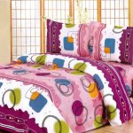 Creative Coolest Great Amazing Velum Multicoloured Double Bed Sheet Set With Wonderful Purple White Coloring Concept 728x515