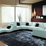 creative-nice-wonderful-cool-adorable-Modern-Leather-Sectional-Sofa-with-blue-accent-concept-and-has-u-shaped-design