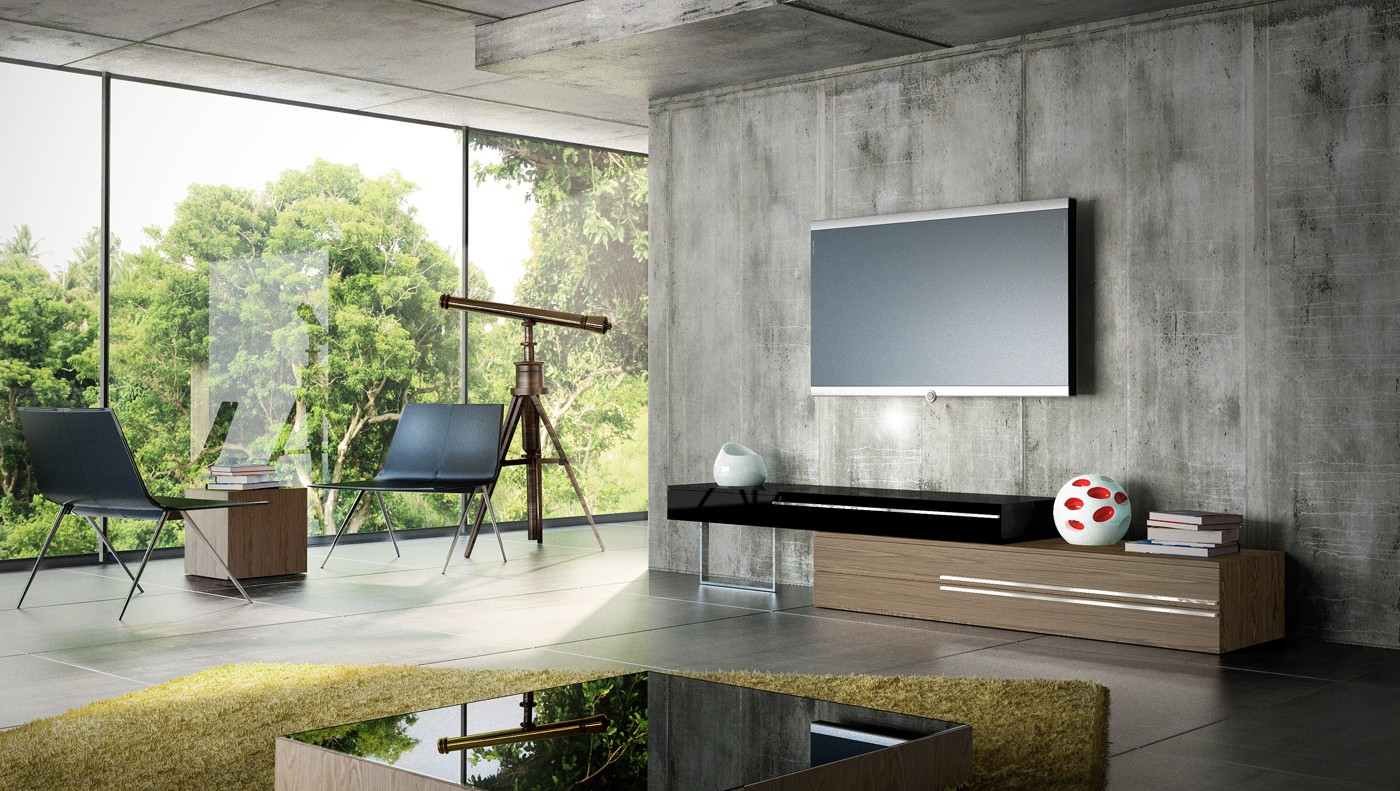 Floating media center stylish and space saving furniture for Modern living room tv ideas