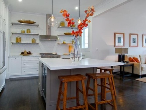 Preferable kitchen island with storage and seating homesfeed - Large kitchen islands with seating and storage ...