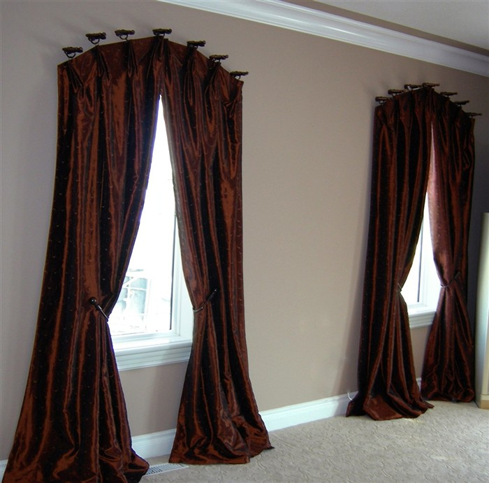 glamour floor to cealing curtains for arched windows installations unique draper rods on top of windows