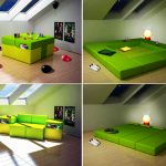 incredible-modern-nice-awesome-great-modular-bed-for-small-space-with-green-nice-soft-design-convertible-to-table-and-seat