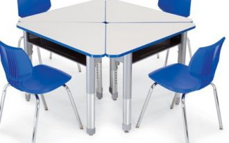 interchange-nice-adorable-cute-modern-elegant-student-desk-with-separatable-design-concept-with-triangle-design-and-has-blue-chairs