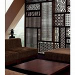 intricate wood room divider from Ikea  a set of living room furniture