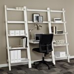 Large Modern Nice Fresh Great Ladder Desk With White Large Desing Wooden Made Concept And Nice Bookshelf Design