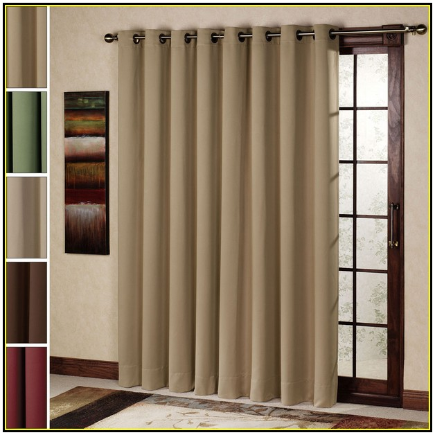 Light Grey Window Curtain For Sliding Glass Door With Frames