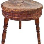 log cedar butcher block table in round shape