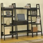 long-DIY-wonderful-nice-great-elegant-ladder-desk-with-side-bookshelf-concept-design-with-nice-black-wooden-coloring--728x662
