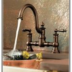 luxurious dark-finish bronze faucet