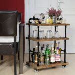 modern-classic-nice-adorable-cool-shelve-Bar-Cart-with-black-iron-frame-design-with-brown-wooden-surface-level-design-for-wine-bottles-728x728