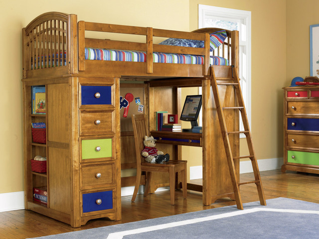 Creative concept of loft bed with desk homesfeed for Concept beds