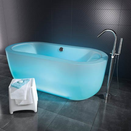 modern coolest nice adorable colored bathtub with cyan