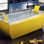 modern-nice-cool-adorable-colored-bathtub-with-yellow-coloring-conceot-and-has-nice-interior-white-with-wooden-flooring-design-728x421