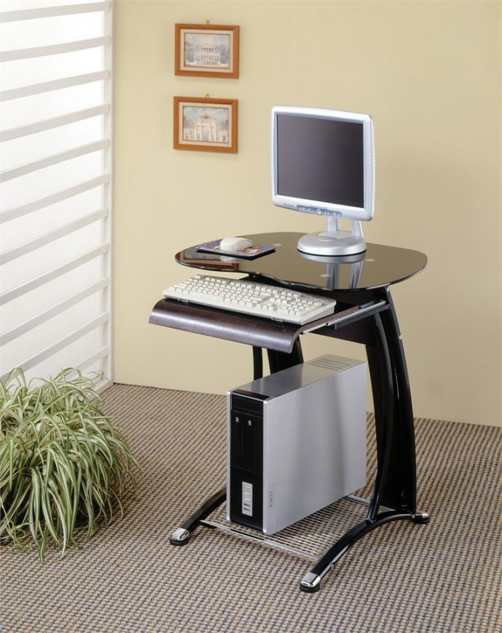 Smart choice of small slim computer desk homesfeed - Modern desks small spaces decoration ...