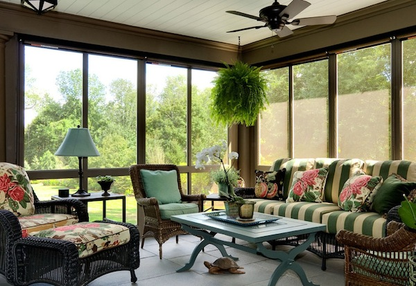 astounding sun porch furniture ideas   Amazing Various Sun Porches with Furniture Decoration ...