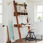 Nice Adorable Cool Fantastic Ladder Desk With Long Big Simple Wooden Concept With Some Drawer Design And Nice Chair Design 728x728
