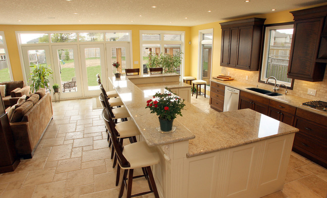 Adorable design of kitchen island with bar seating homesfeed - Counter island designs ...