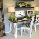 nice-cool-adorable-simple-small-Custom-2-person-desk-building-plans-with-white-coloring-chair-with-wooden-surface