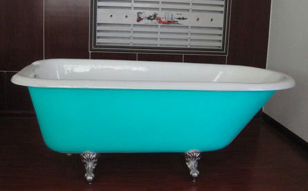 nice cool attractive adorable colored bathtub with double