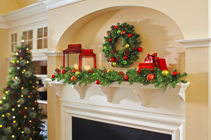 Mantel Christmas Decorating Ideas Pictures Part Nicecool - Mantel christmas decorating ideas