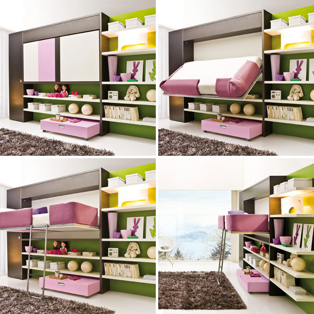 Adorable design of fold up wall bed for small bedroom - Fold up beds for small spaces ...
