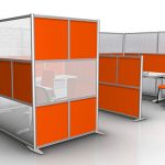 Nice Trasnparent Cool Amazing Adorable Office Divider With Cool Red And White Border Coloring Concept With Double Setting