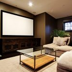 rustic TV console extra large flat screen living room furniture warm and cozy carpet