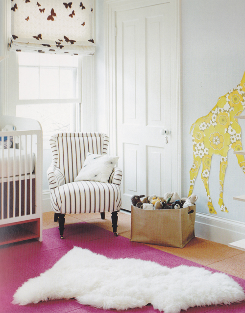 Reading Chairs For Small Spaces Part - 32: Simple And Small Strip-patterns Reading Chair Beautiful White Pendant Lamp  With Butterfly Ornaments Yellow