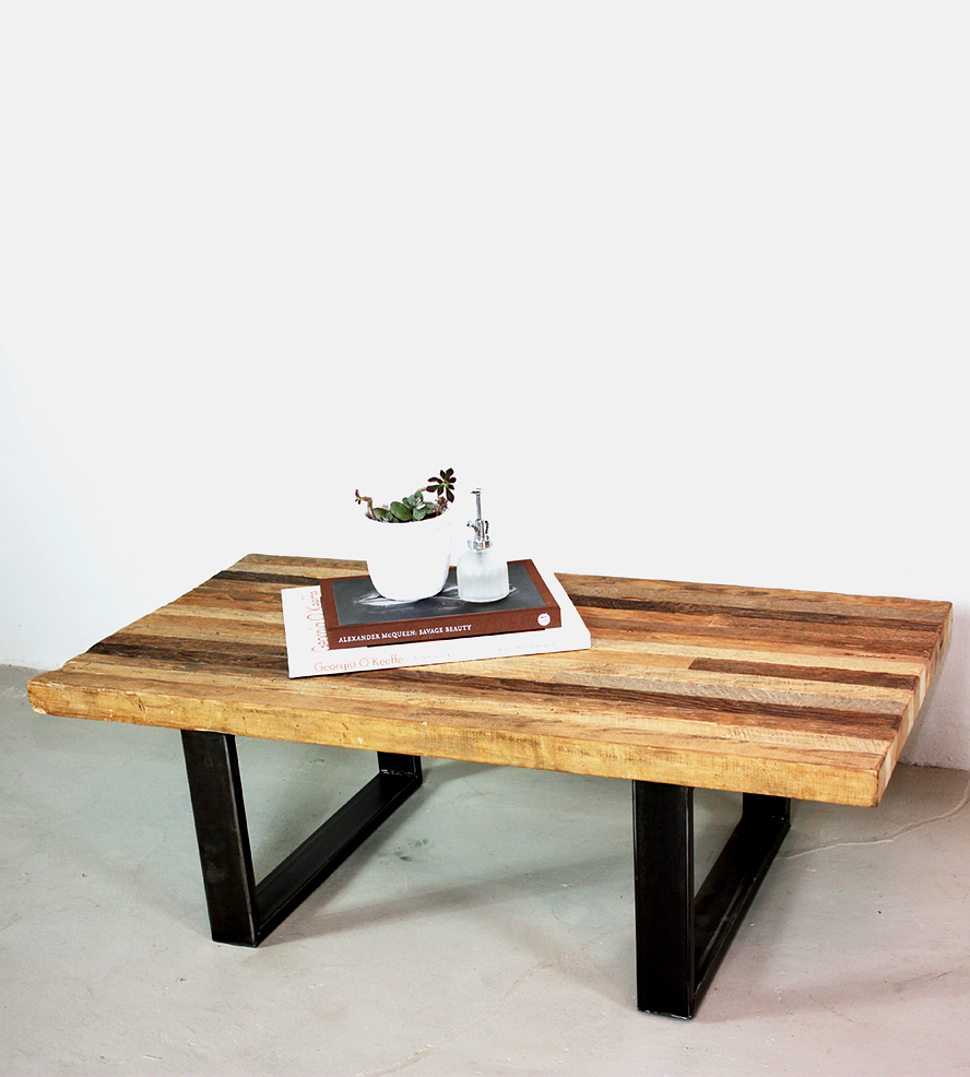 simple butcher block table with black metal legs a book mini white pot for  ornamental plant - Butcher Block Coffee Table: Unique Focal Point For A Living Room
