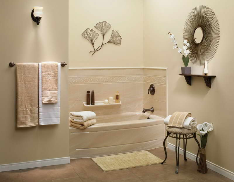 small bathroom with corner small tub mini floating shelf for storing bath supplies a small console bath remodel cost