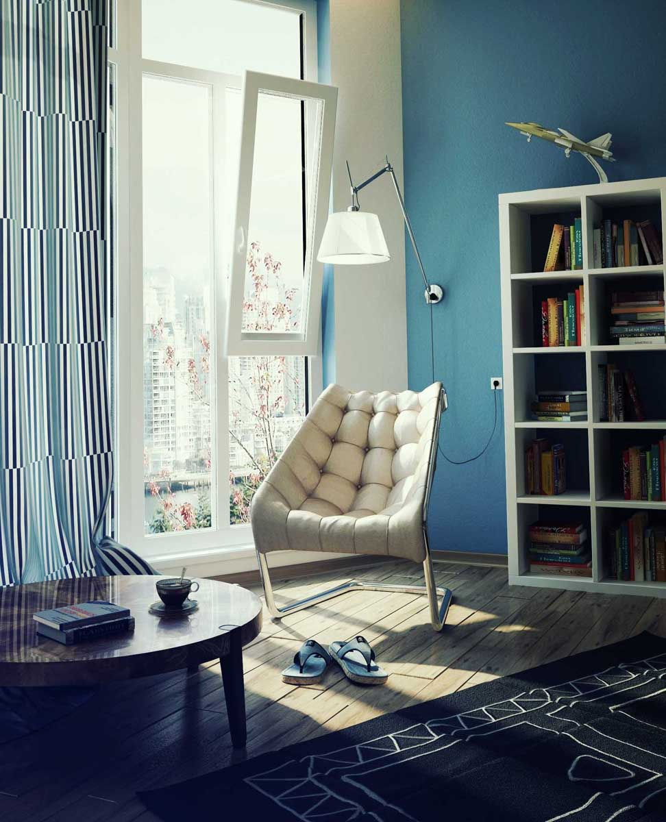 Small Reading Chair for Tiny Private Houses, Small Spaces, and Micro ...