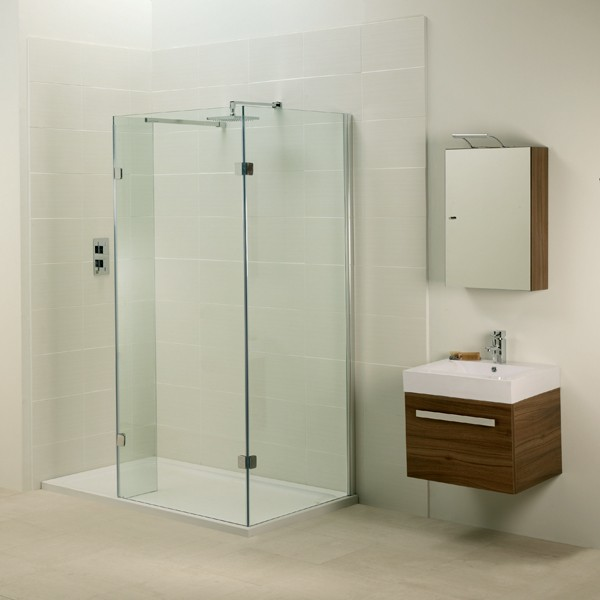 Small Walk In Shower With Glass Door Panels Small And Minimalist Floating Bathroom Vanity With