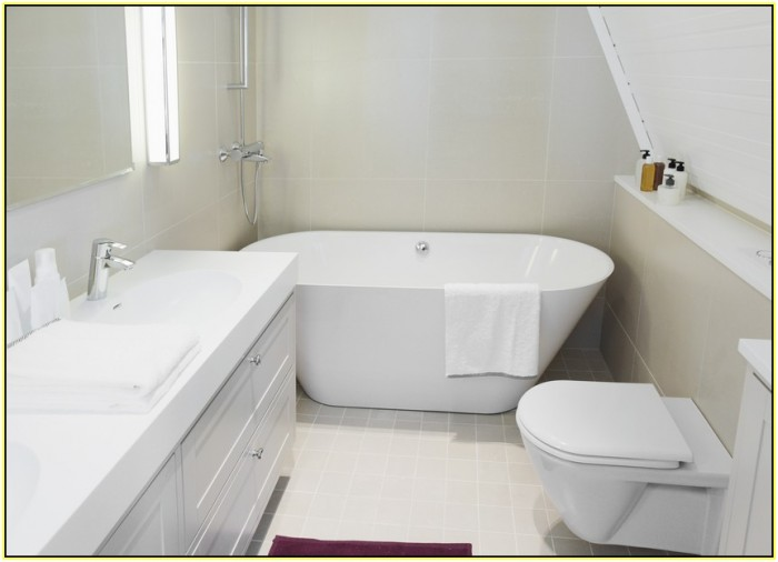 Soaking tubs for small bathrooms homesfeed - Small space bathroom vanities minimalist ...