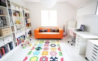 wonderfil-nice-simple-coolest-kids-rug-ikea-with-colorful-decoration-suitable-for-kids-modern-bedroom-with-white-wall-concept